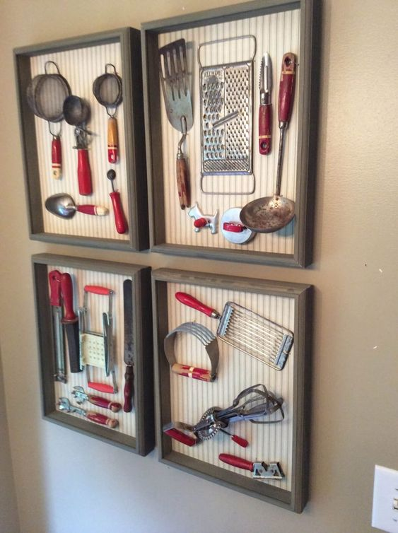 un'idea interessante per un muro della galleria della cucina