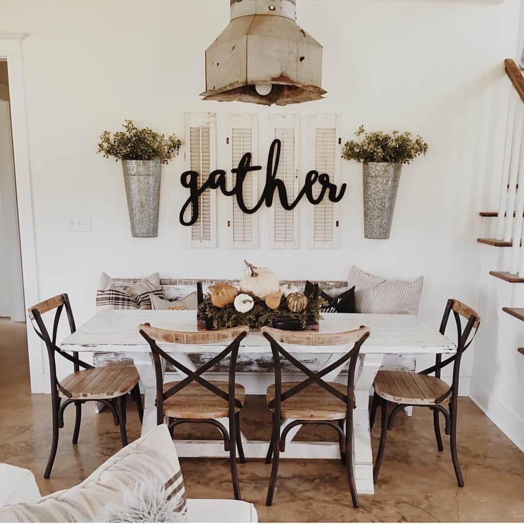 secchi da muro con legno di bosso, persiane vintage con lettere per deliziosi spazi da pranzo o decorazioni per la cucina