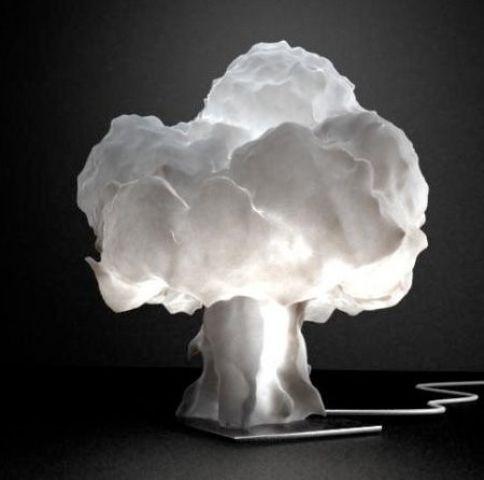 una moderna lampada da tavolo nuvola è una soluzione d'arredo unica per il rock, porterà interesse con il suo design
