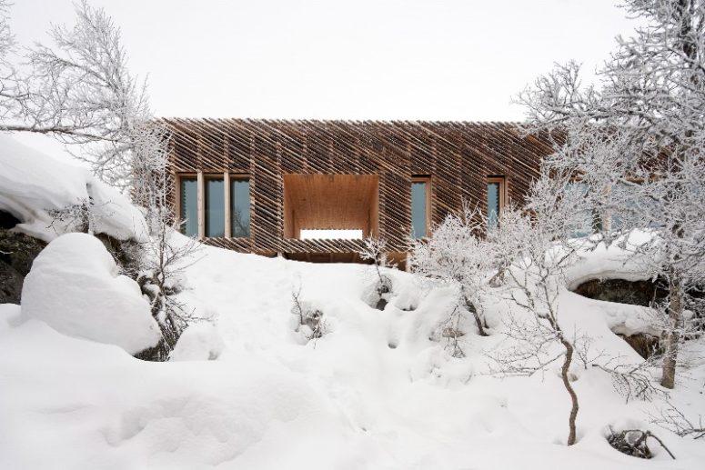 La cabina è molto ben isolata per resistere alle condizioni meteorologiche avverse tipiche della Norvegia