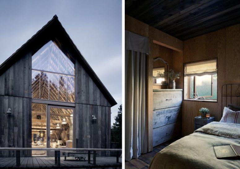 La casa ha recuperato la sua intimità e un leggero tocco vintage grazie all'uso di materiali e allo stile scelto per l'arredamento interno