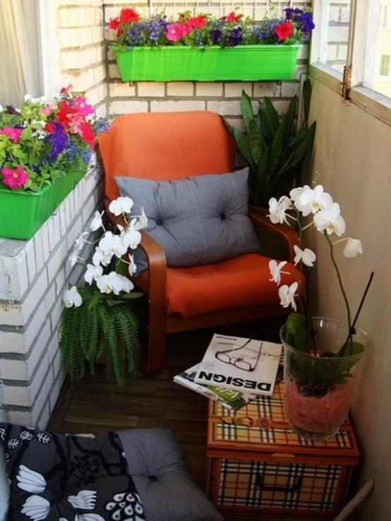 fioriture luminose in vasi colorati qua e là sono proprio ciò di cui hai bisogno per una fresca sensazione elastica