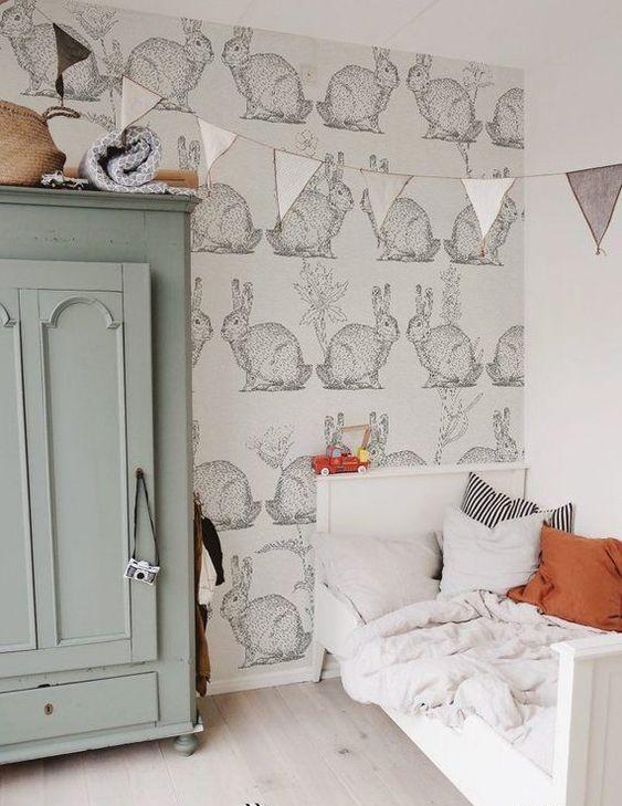 un adorabile e rilassante asilo nido a tema coniglietto con tocchi pastello sarà carino sia per i ragazzi che per le ragazze
