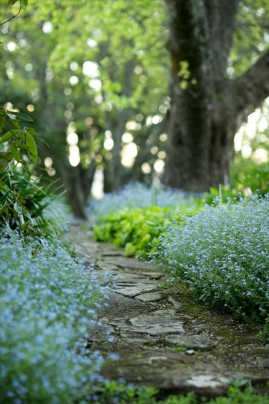 camminamento del giardino ruvido e rilassato è fantastico per creare una sensazione di luce e naturale nel tuo giardino