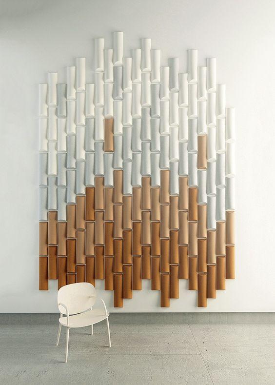 I pannelli acustici orecchiabili ispirati al bambù realizzati con un effetto ombre manterranno i suoni lontani