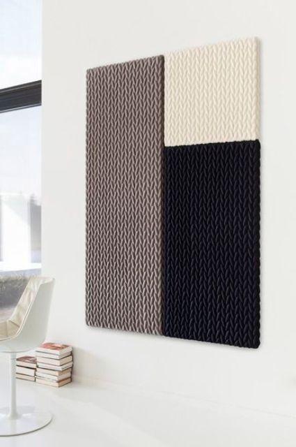 pannelli acustici modellati creativi in vari colori per isolare le pareti della vostra casa