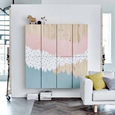 I mobili IKEA Ivar galleggianti con pittura creativa sono un'idea audace per ogni stanza, accendi il tuo interno dipinto