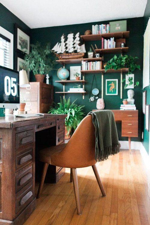 diventa verde per sentirsi come fuori ancora dentro, è una splendida idea per ogni spazio, non solo per un ufficio a casa
