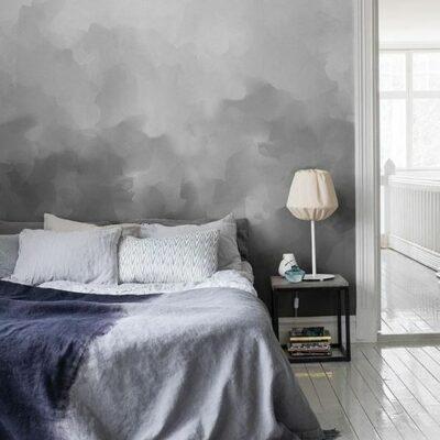 un muro grigio ombre può essere facilmente ricreato nella tua camera da letto, è un bel colore rilassante e un modo alla moda di lavorare con il colore