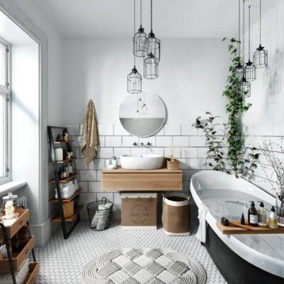 arredo bagno in stile scandinavo