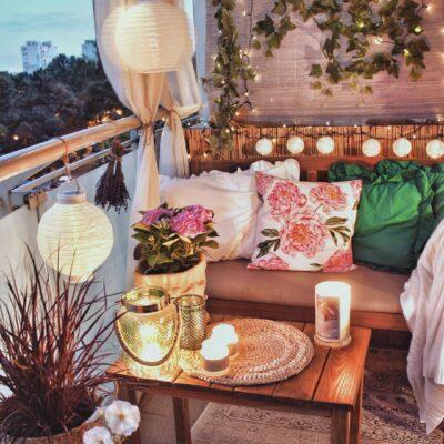 idee di arredo per il balcone d'estate