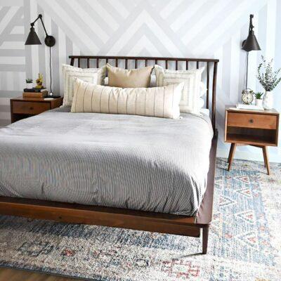 Camera da letto moderna mid-century