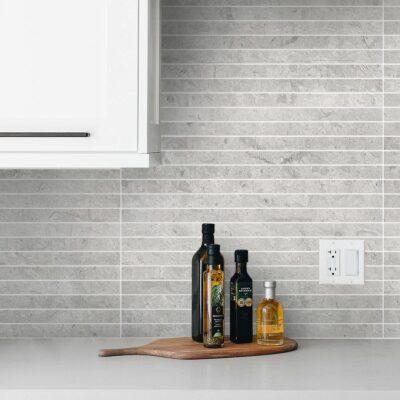 idee per le pareti della cucina con piastrelle sottili
