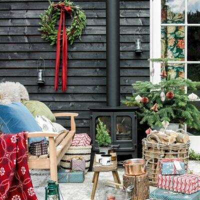 Decorazione natalizia rustica