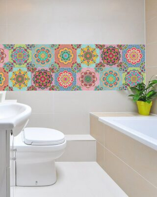 idee per arredare il bagno in colorato