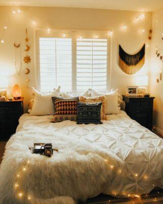 illuminazione per camera da letto romantica