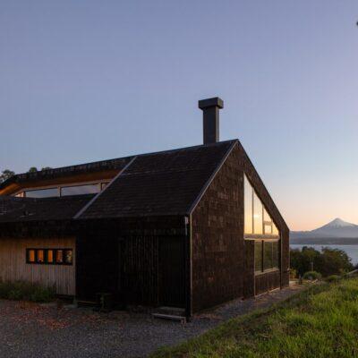 Casa rustica con vista sul lago e sul vulcano