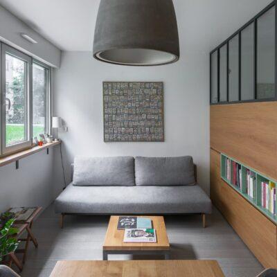 Piccolo appartamento funzionale di 30 mq con mobili da incasso