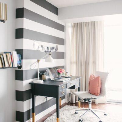 Ufficio in casa: 25 idee in bianco e nero