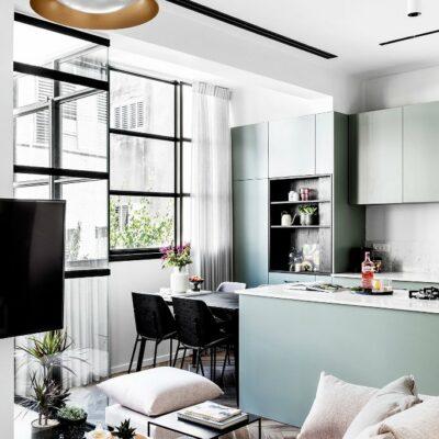 appartamento moderno in colori chiari