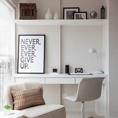come arredare ufficio-studio in casa con colori neutri