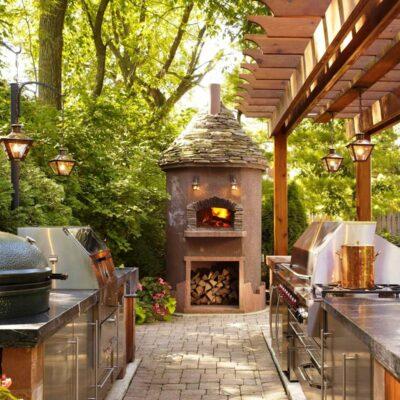 Cucine da esterno: idee per cucine da giardino con barbecue