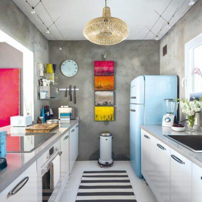 Cucina eclettica colorata idee
