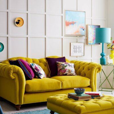 divani giallo senape