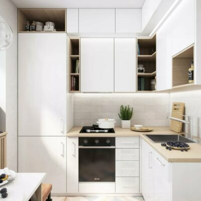 Cucina moderna ad angolo